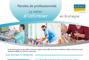 Paroles de professionnels – Le métier d'infirmier en Bretagne
